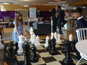 Chess at the Barclaycard offices in Canary Wharf