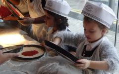 Child of the term – Pizza making at Pizza Express